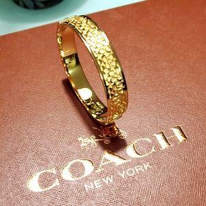 Gold Coach Bracelet Bangle